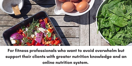Completing the nutrition jigsaw for better client results. tickets