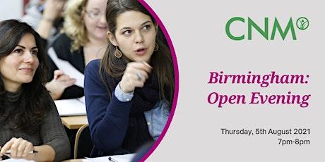 CNM Birmingham: Open Evening - Thursday, 5th August 2021 tickets