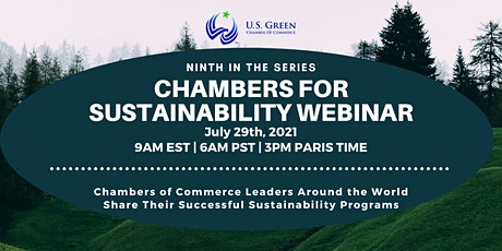 """9th """"Chambers for Sustainability"""" Webinar tickets"""