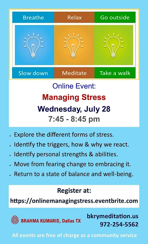 Managing Stress: Online Event image