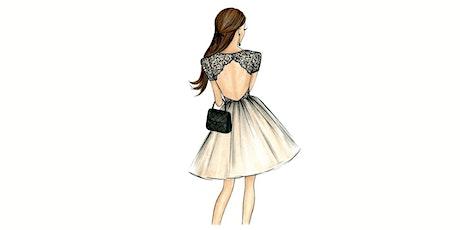 60min Fashion Design Art Lesson: Elegant Dress @3PM (Ages 7+) tickets