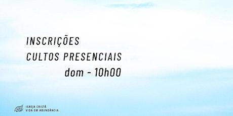 Culto Dominical - 26/09/2021 ingressos