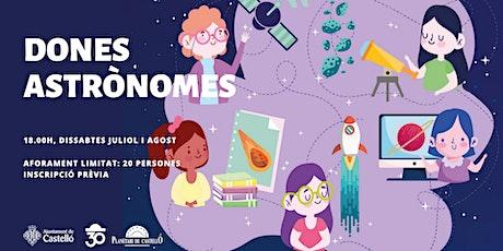 "Planetaller Infantil Planetari ""Dones Astrònomes: Mariona Badenas"" entradas"