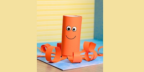 30min Learn to Craft: Paper Octopus @2PM  (Ages 5+) tickets