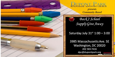 Back 2 School Supply Give Away tickets