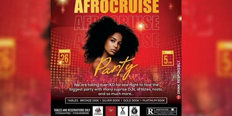 AFROCRUISE PARTY tickets