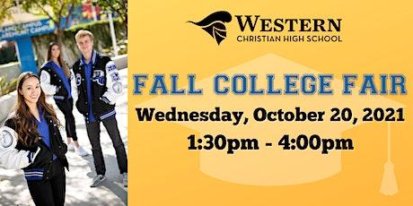 Western Christian High School's Fall College Fair tickets