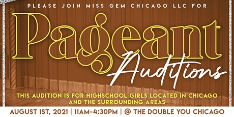 MGC PAGEANT AUDITIONS tickets