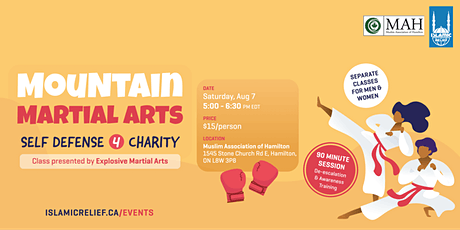Mountain Martial Arts: Self Defense 4 Charity tickets