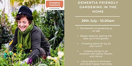 Dementia friendly gardening in the home tickets