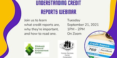 Understanding Credit Reports Webinar tickets