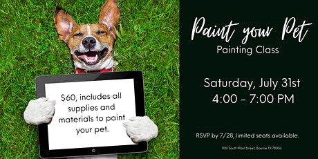 'Paint Your Pet' Painting Event tickets