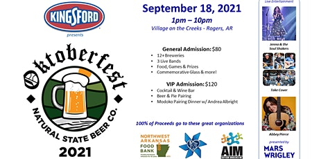 Natural State Beer Company Oktoberfest 2021 tickets