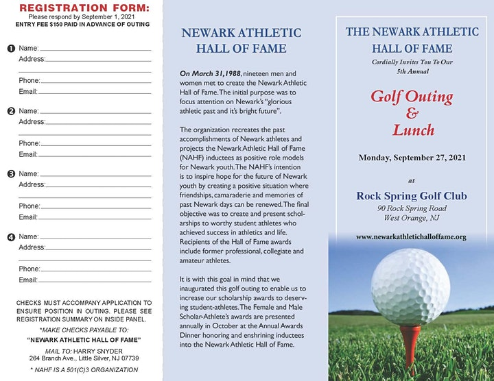 Newark Athletic Hall of Fame 5th Annual Golf Outing image