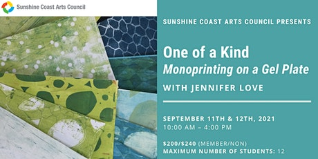 One of a Kind: Monoprinting on a Gel Plate with Jennifer Love tickets