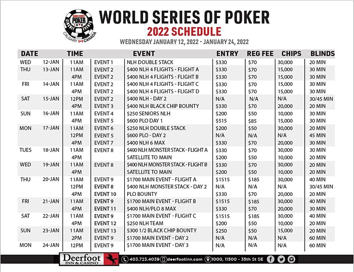 2022 World Series of Poker Circuit Event image