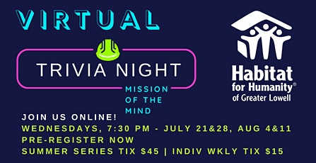 Mission of the Mind Trivia Nights tickets