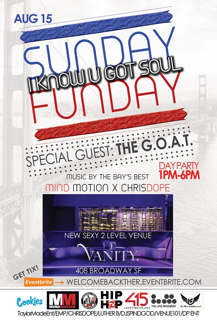 SUNDAY FUNDAY Day Party August 15th image