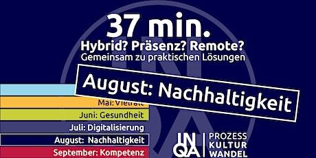 """37Min / """"Nachhaltigkeit für kommunales Handeln"""" Tickets"""