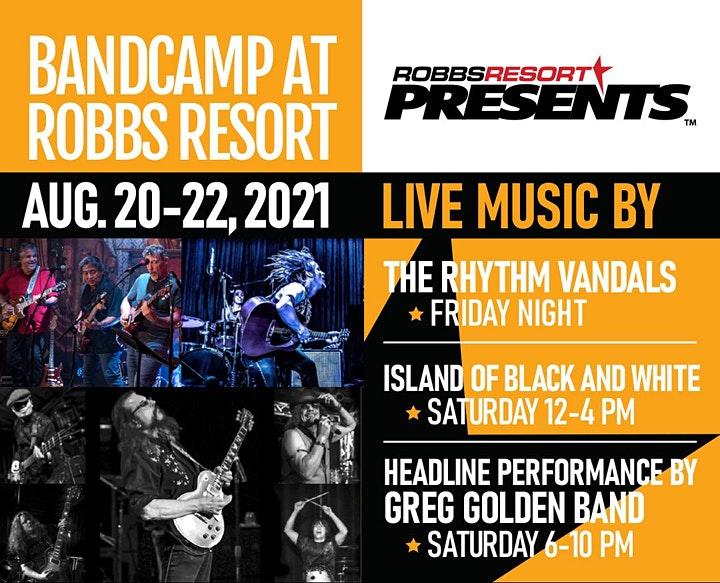 Island of Black and White & The Greg Golden Band at Robbs Resort image