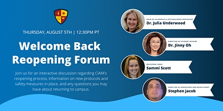 Welcome Back Reopening Forum tickets