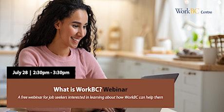 What is WorkBC? Webinar biglietti
