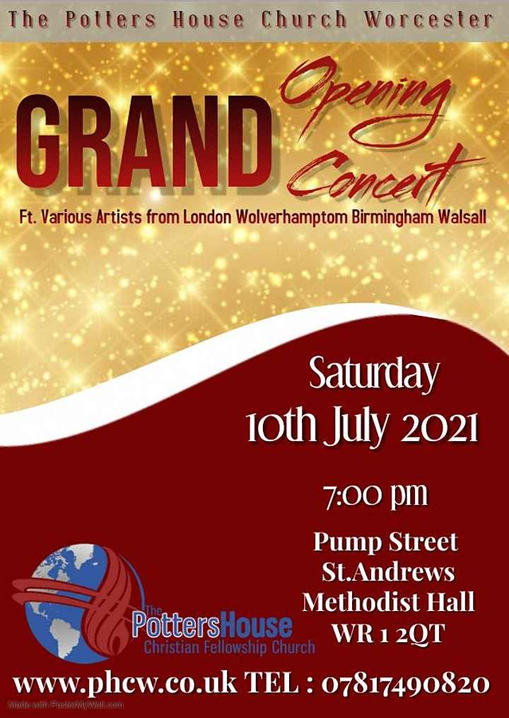 Grand church open day free family day and concert image