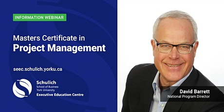Masters Certificate in Project Management - Webinar tickets