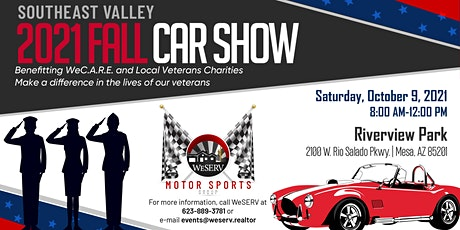 WeSERV Motor Sports Group SouthEast Valley 2021 Fall Car Show tickets