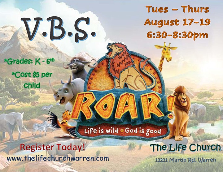 Vacation Bible School @ The Life Church image