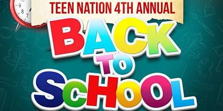Teen Nation  4th Annual Back To School -Health and Wellness Jam Fest tickets