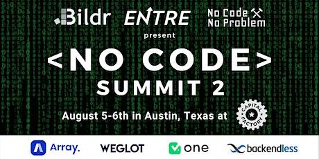 No Code Summit 2 tickets