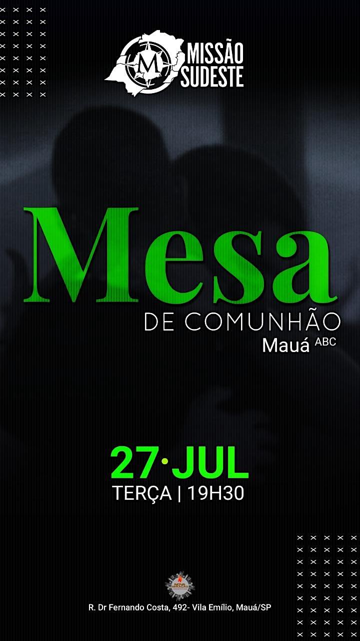 Imagem do evento MESA DE COMUNHÃO PARA PASTORES - ABC PAULISTA / MAUÁ