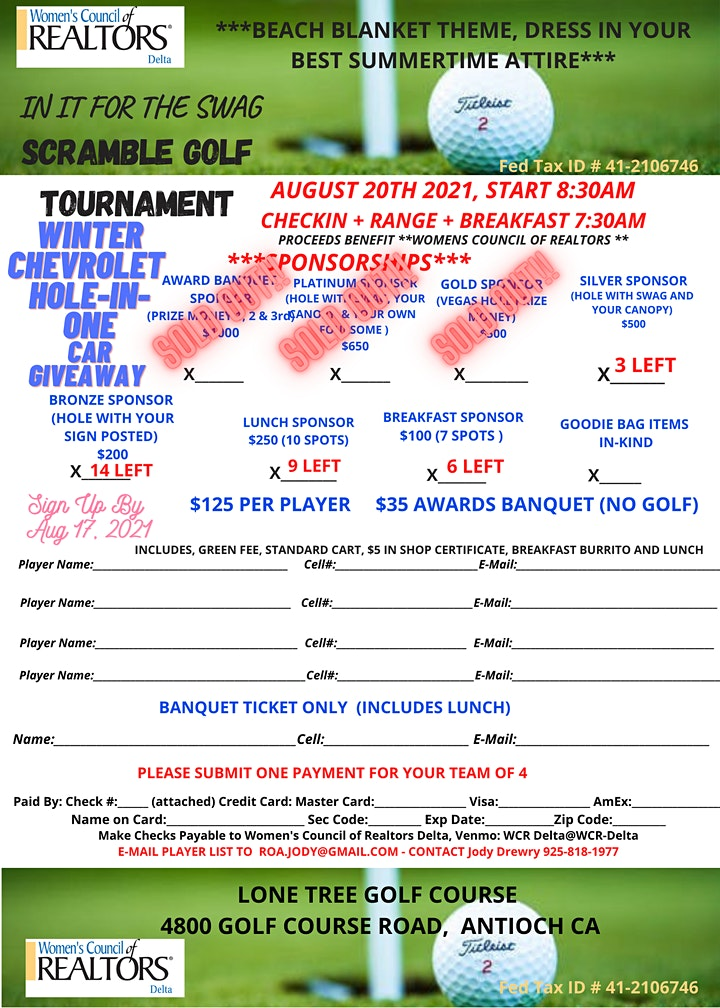 In It For The Swag Scramble Golf Tournament image
