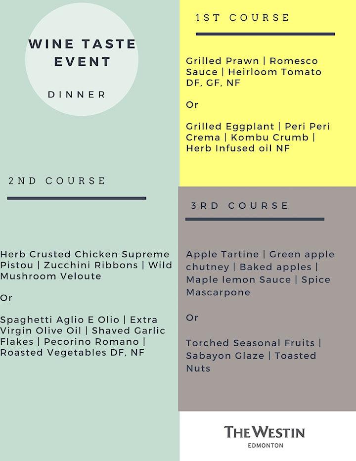 Wine Tasting & Dinner Event - Weekends At Westin Series image