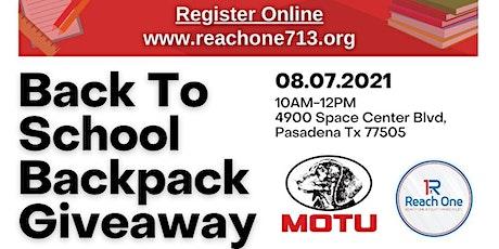 2021 Reach One 713 & MOTU Backpack Giveaway tickets