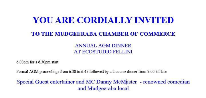 Mudgeeraba Chamber AGM image