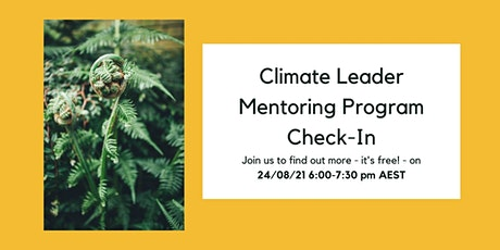 Climate Leader Mentoring Program Check-In ingressos