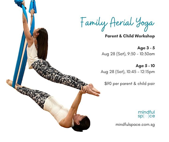 Family Aerial Yoga (Parent & Child) August  Workshop image