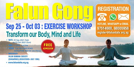 9-Day Falun Gong Exercise Workshop 法轮功九讲学习班 tickets