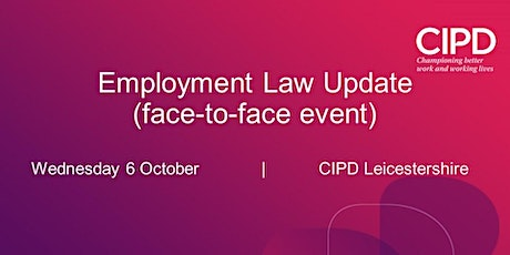 Employment Law Update (Face-to-Face) tickets