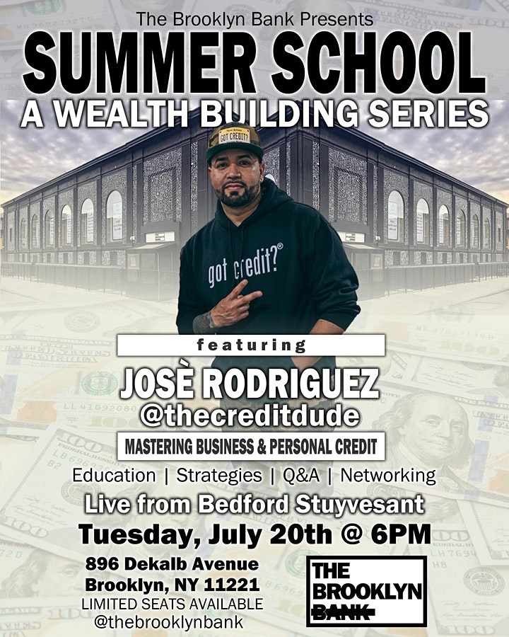 The Brooklyn Bank Summer School Series  #4: Business and Personal Credit image