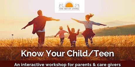 Online know you child/teen workshop tickets