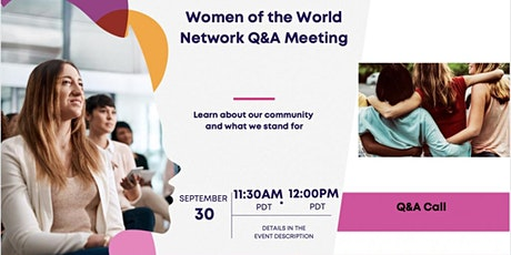 Women of the World Network: Learn about our community! tickets