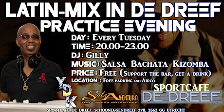 Latin mix  in de Dreef met DJ Gilly (free. Support the bar, get a drink) tickets