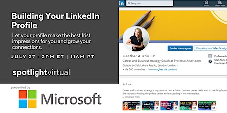 Building Your LinkedIn Profile tickets