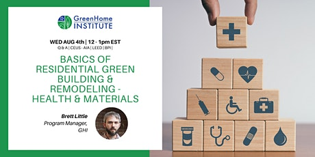Basics of Residential Green Building and Remodeling - Session 3 tickets