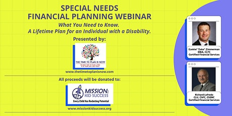 Special Needs Financial Planning Webinar to benefit Mission: Kid Success tickets