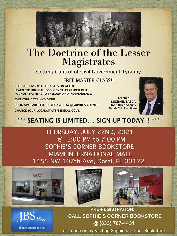 FREE Master Class on The Doctrine of Lesser Magistrates image