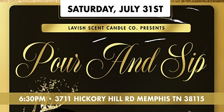 Lavish Scent Candle Co Pour & Sip tickets